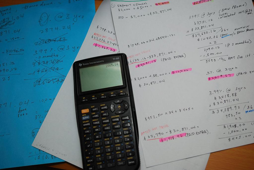 calculations....