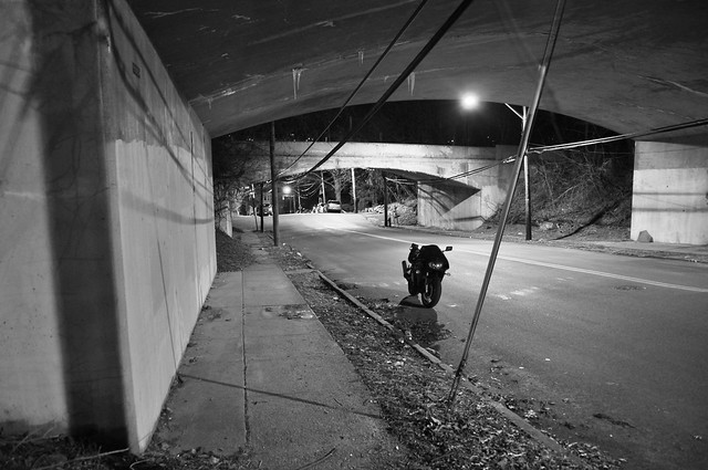 Underneath the Saw Mill River Parkway, in the Big Y.O.