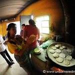 Making Tortillas, Fisheye - San Martin Jilotepeque, Guatemala