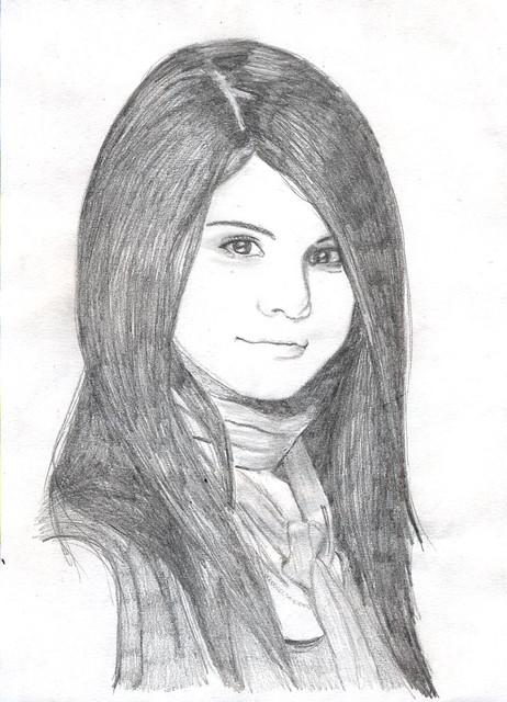 Selena gomez drawing flickr photo sharing - Selena gomez dessin ...