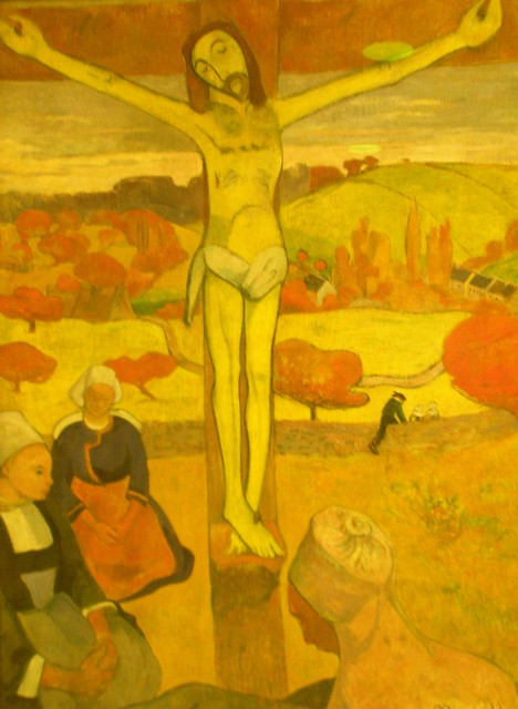 Paul Gaugin 1889 'The Yellow Christ', Albright-Knox Art ... Chagall Crucifixion In Yellow