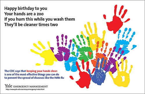 Hand washing poster from Yale