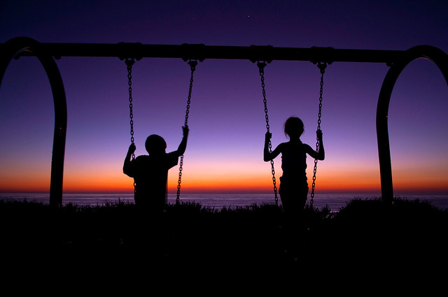 Savkra Says Swings Are Wonderful So Is That Sunset