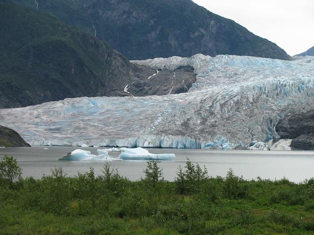 Mendenhall Glacier Near Juneau Alaska Mendenhall