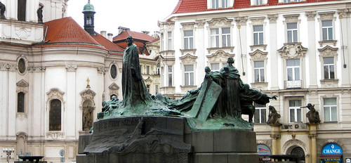 Old Town Square Jan Hus Monument