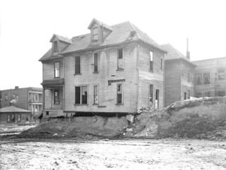 Houses during second Denny Regrade, 1930