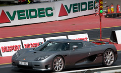 race car(1.0), automobile(1.0), vehicle(1.0), performance car(1.0), automotive design(1.0), koenigsegg cc8s(1.0), koenigsegg ccr(1.0), land vehicle(1.0), luxury vehicle(1.0), supercar(1.0), sports car(1.0),