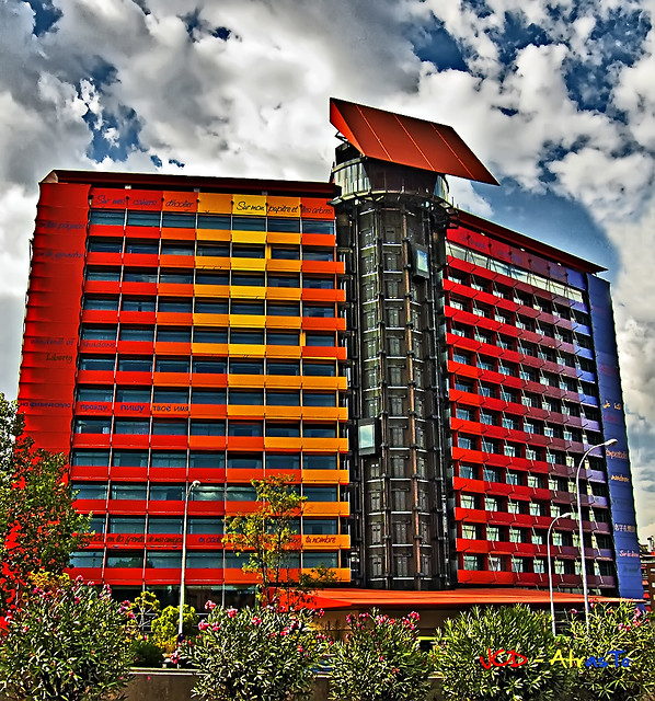 Hotel multicolor hdr hotel silken puerta am rica for Hotel america madrid