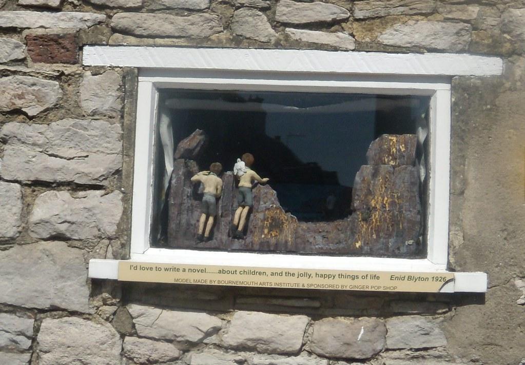 Enid Blyton window, Corfe Castle Corfe Castle to Lulworth Cove (Dorset)