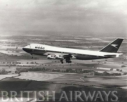 1970s - BOAC Boeing 747-136 G-AWNB