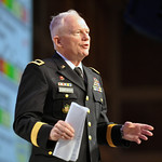 Maj. Gen. Raymond Carpenter, the acting director of the Army National Guard, addresses the 131st National Guard Association of the United States General Conference