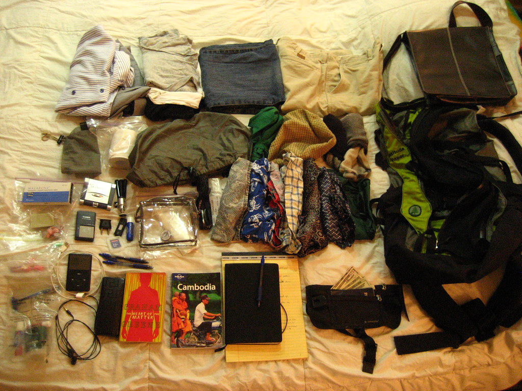 Visual Packing List - Cambodia Oct 09