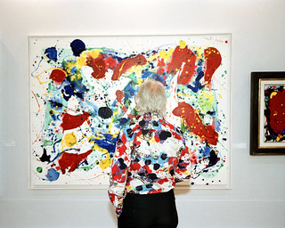 Abstract Painting with abstract shirt