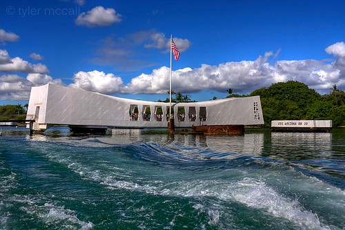 blue clouds hawaii memorial remember wwii pearlharbor honolulu hdr ussarizona photomatix canonrebelxs canonefs1855mmf3556is canoneos1000d tylermccall