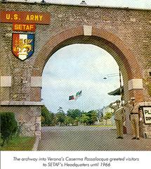 United States Army Southern European Task Force (SETAF) Historical Photo - 1966 - Caserma Passalacqua, Verona, Italy