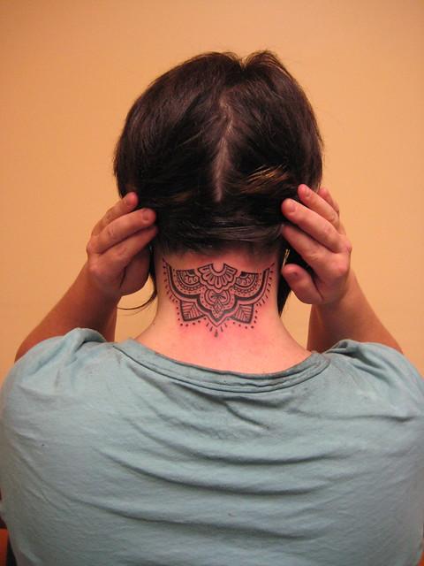 Mehndi Neck Tattoo Flickr Photo Sharing