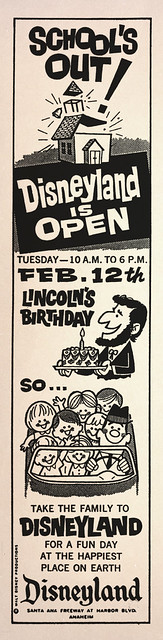 Disneyland is Open Lincoln's Birthday, 1963