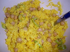 curry(0.0), spanish rice(0.0), produce(0.0), rice and curry(0.0), scrambled eggs(0.0), khichdi(1.0), yeung chow fried rice(1.0), rice(1.0), food(1.0), pilaf(1.0), dish(1.0), fried rice(1.0), cuisine(1.0),