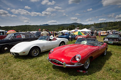 race car(0.0), automobile(1.0), vehicle(1.0), performance car(1.0), automotive design(1.0), jaguar e-type(1.0), antique car(1.0), vintage car(1.0), land vehicle(1.0), sports car(1.0),