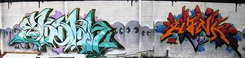 autostitch streetart art wall graffiti ghost houston panoramic hank photostitch skorn texasgraffiti houstongraffiti