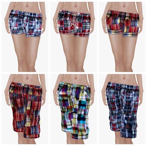 Doppelganger Inc Madras Shorts Juicybomb Second Life
