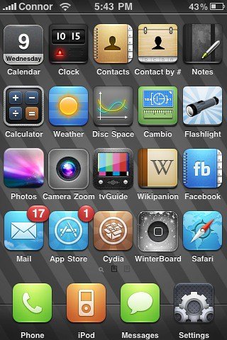 home sharing iphone jailbroken iphone home screen flickr photo 10783