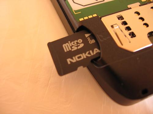 Nokia E55 Micro SD Slot