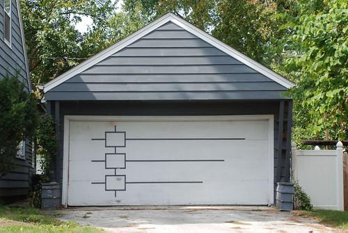 Mid century modern garage doors design inspiration 49057 for Mid century modern garage