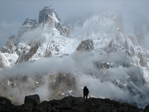 Thunmo Cathedral, in Urdukas camp site (Trekking Baltoro, Pakistan)
