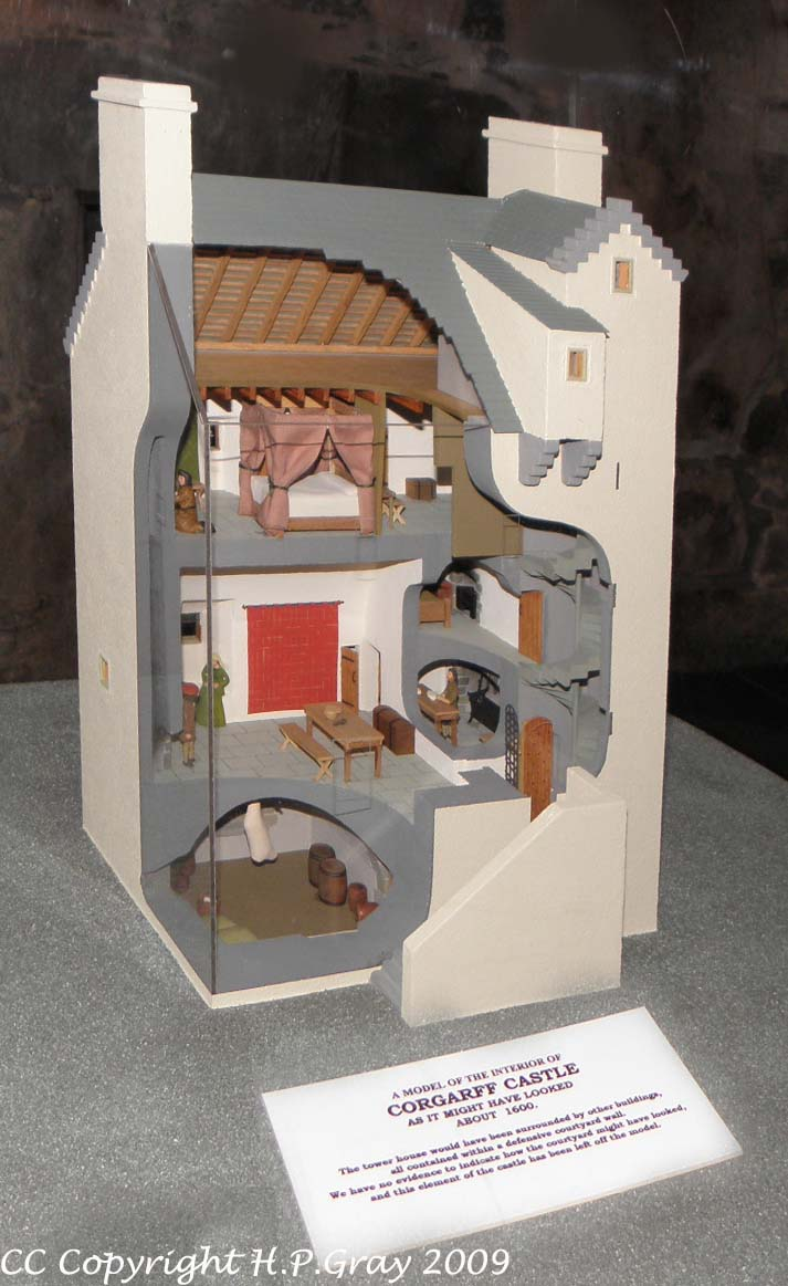 Corgarff Castle model