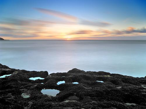 longexposure sunset sea newzealand canon ixus auckland nz muriwai chdk
