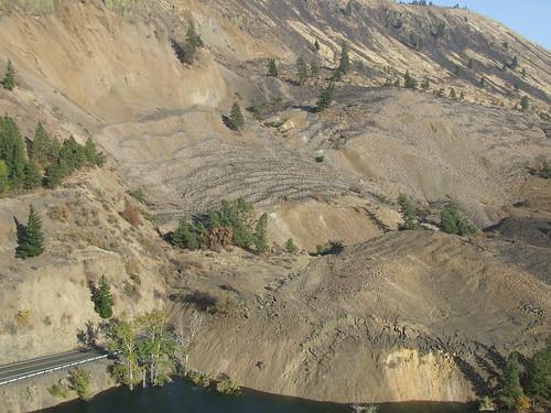 county river nile landslide geology mass yakima wasting dnr naches geologydnr