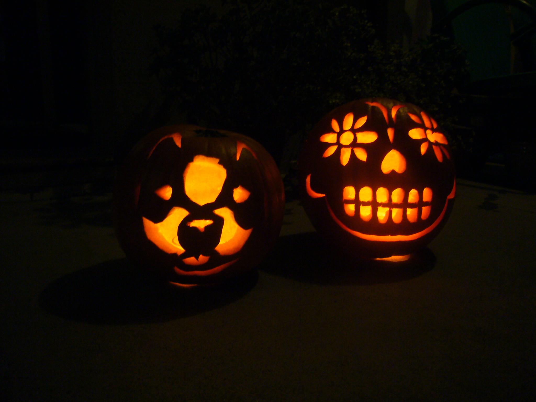 Sugar skull pumpkin carving patterns imgkid