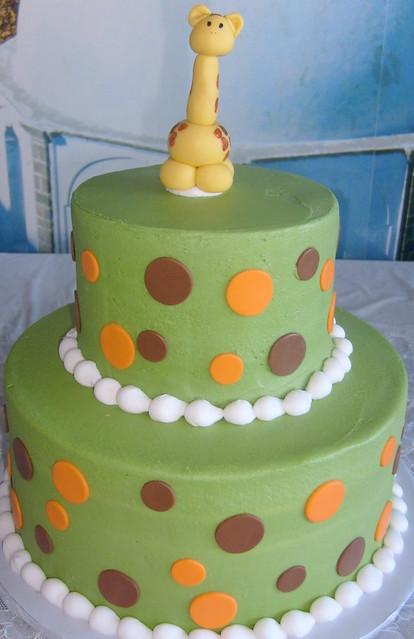 green polka dots giraffe baby shower flickr photo sharing