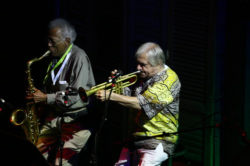 Herb Hardesty and Charlie Miller (Photo by Jef Jaisun)