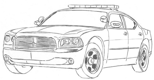 dodge charger police car drawing sketch coloring page. Black Bedroom Furniture Sets. Home Design Ideas