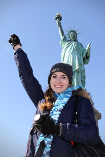 Ashlie at Statue of Liberty