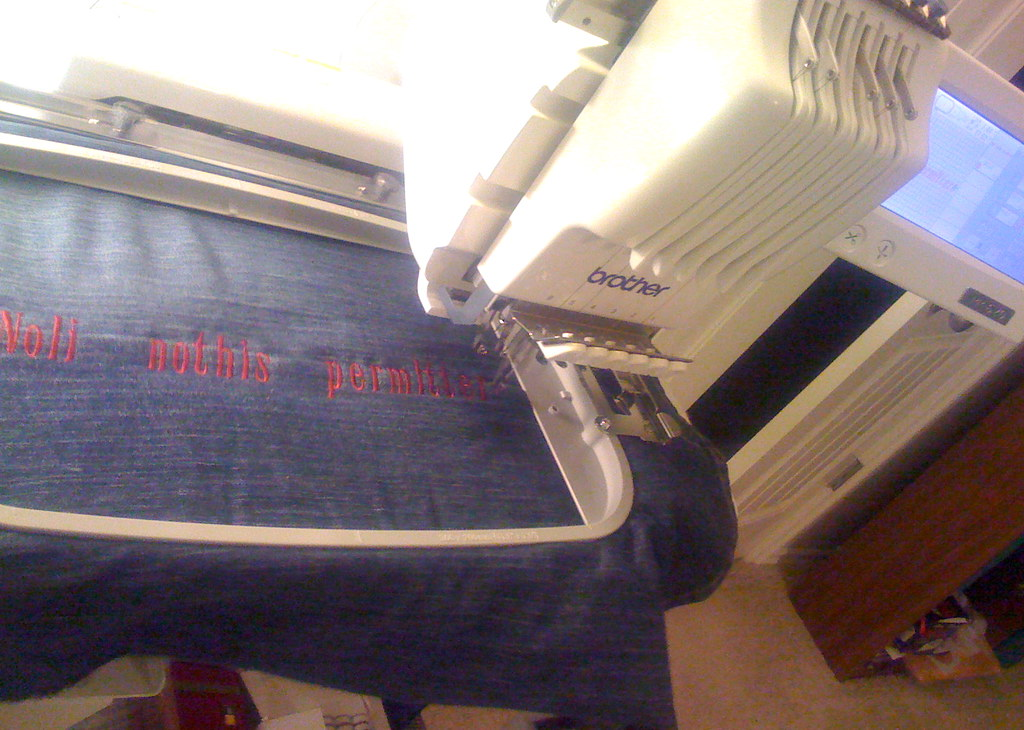 MJ39s Industrial Embroidery Machine In Action  We