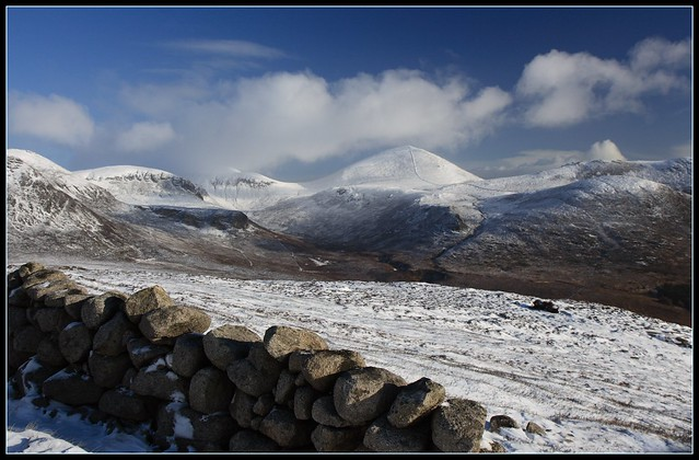 Mourne mountains winter