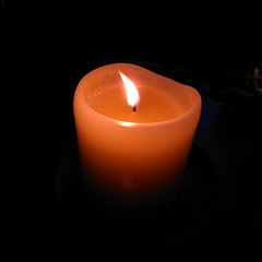 orange, flameless candle, candle, light, flame, lighting,