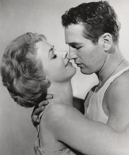 Piper Laurie & Paul Newman in The Hustler