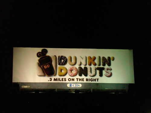 Dunkin  Donuts billboard  Electric Road Dunkin Donuts Billboard