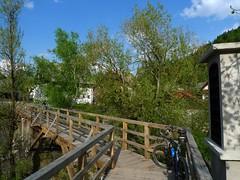 Wooden footbridge in Puštal, Škofja Loka