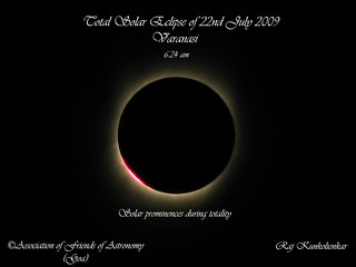Solar activity during totality