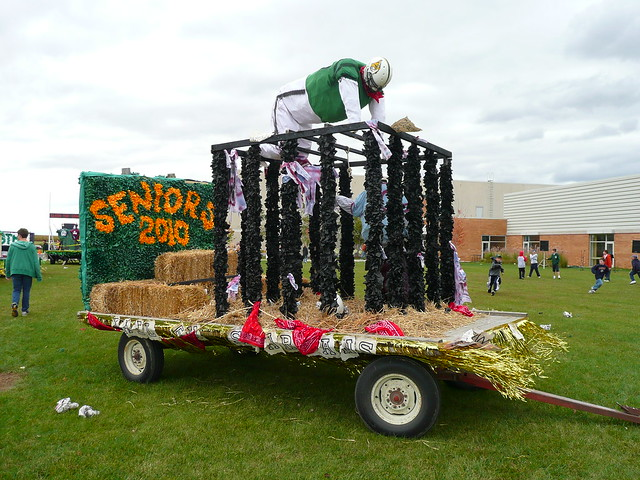 High School Homecoming Parade Floats http://www.flickr.com/photos/army_arch/3977520551/