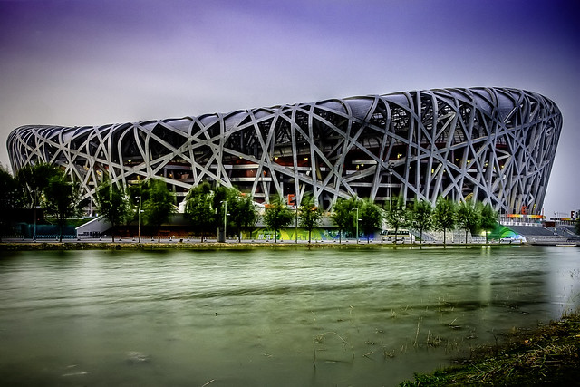 "Beijing's National Stadium ""Bird's Nest"" by CC user 22240293@N05 on Flickr"