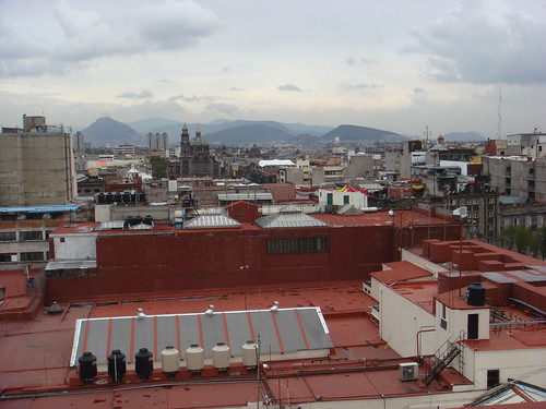 Mexico City and surrounding mountains