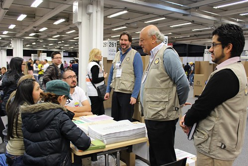 OAS Mission of Electoral Oversight in Colombia Visits Polling Stations in Parliamentary Elections