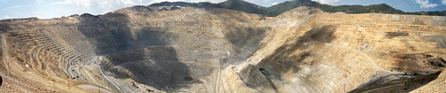 Bingham Canyon mine, Utah -- the largest open pit mine in North America.