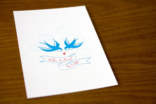 wedding invitations - swallows